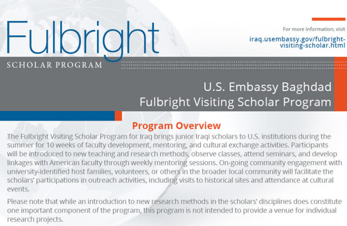 Applications Now Being Accepted For The 2016 Fulbright Visiting Scholar Program. Application Deadline: November 15, 2015