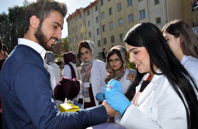 Students of Technical College of Health Organized an Event on the Anniversary of Diabetes