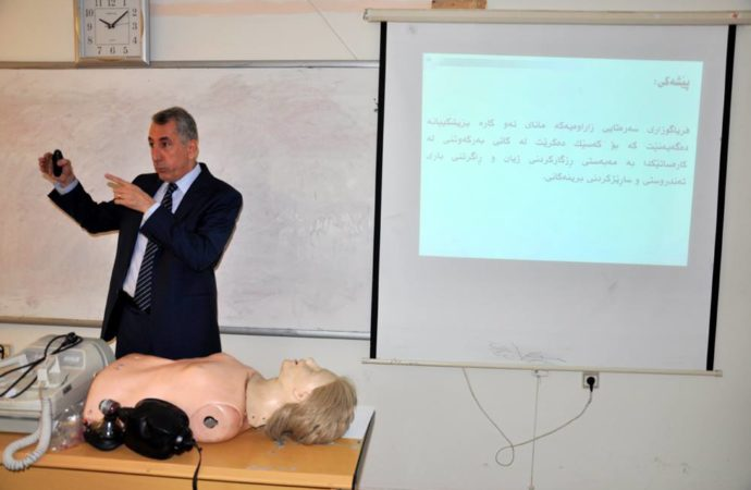 Organizing  of a First Aid course in Sulaimani Polytechnic University.